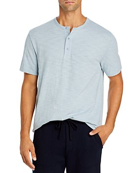 Vince - Striped Short Sleeve Henley