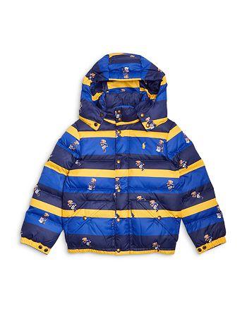 Ralph Lauren - Boys' Hawthorne Polo Bear Stripe Down Coat - Little Kid, Big Kid