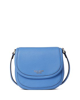 kate spade new york - Roulette Small Pebble Leather Saddle Crossbody