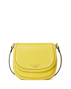 Kate Spade KATE SPADE NEW YORK ROULETTE SMALL PEBBLE LEATHER SADDLE CROSSBODY