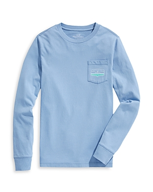 Vineyard Vines Boys\\\' Logo Long Sleeved Cotton Tee - Little Kid, Big Kid-Kids