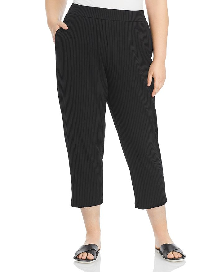 Eileen Fisher Plus - Ribbed Ankle Pants