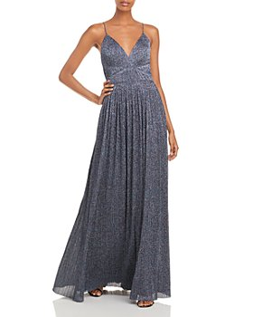 Aidan by Aidan Mattox - Pleated Glitter Gown