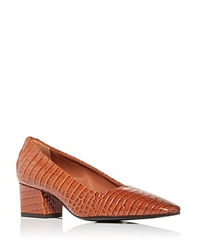 MARION PARKE - Women's Pierson Snake Embossed Square Toe Pumps