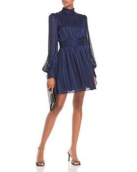 AQUA - Mock Neck Semi Sheer Dress – 100% Exclusive