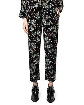 Zadig & Voltaire - Poppy Floral Print Velvet Pants