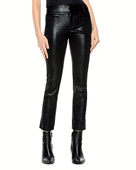 Alice and Olivia - Stacey Faux Leather Slim Pants