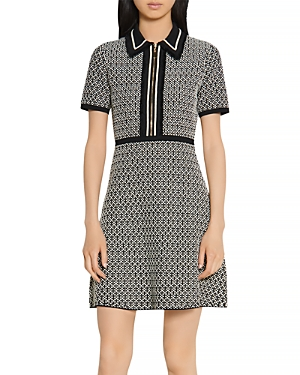 Sandro Polie Stretch Tweed Short Dress
