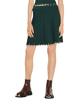Sandro - Amyla Eyelet Trim Skirt