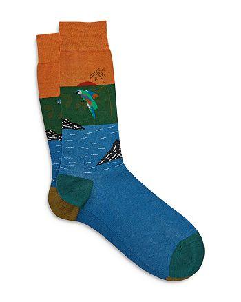 Ted Baker - Pantherella Geometric Pattern Socks