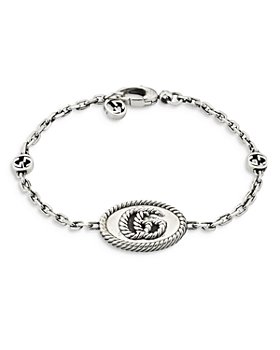 Gucci - Sterling Silver MARMONT Double G Plate Chain Bracelet