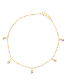 Bloomingdale's - Diamond 5-Stone Droplet Bracelet in 14K Yellow Gold, 0.10 ct. t.w. - 100% Exclusive