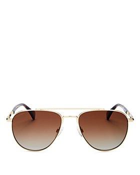 rag & bone - Women's Polarized Brow Bar Aviator Sunglasses, 55mm
