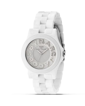 MARC JACOBS - Rivera White Glitz Logo Watch, 40mm