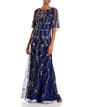 Aidan Mattox - Capelet Back Beaded Gown
