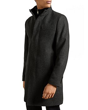 Ted Baker - ROCKIES Wool Blend Funnel Neck Coat