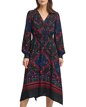 Karl Lagerfeld Paris Printed Crepe Dress-Women