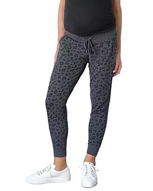 Maternity Leopard Print Jogger Pants