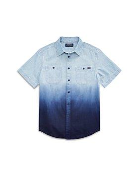 Ralph Lauren - Boys' Dip Dye Chambray Shirt - Big Kid, Little Kid