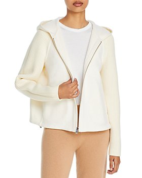 Theory - Ribbed-Sleeve Cropped Jacket