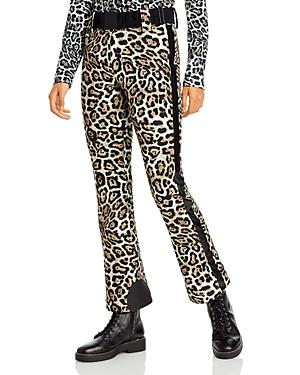 Goldbergh Roar Leopard Print Belted Pants