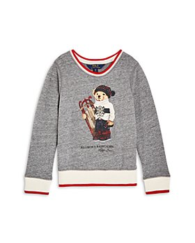 Ralph Lauren - Girls' Holiday Polo Bear Sweatshirt - Little Kid, Big Kid