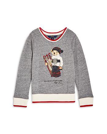 Ralph Lauren - Girls' Holiday Polo Bear Sweatshirt - Little Kid, Big Kid