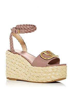 Valentino Garavani - Women's Vlogo Wedge Platform Espadrille Sandals
