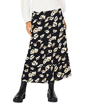 ba&sh - Undee Floral Print Midi Skirt