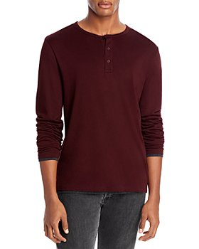 Vince - Pima Cotton Double Layer Henley Tee