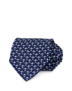Salvatore Ferragamo Airplane Silk Classic Necktie-Men