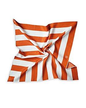 Les Belles Heures - Stripe Cotton & Silk Scarf