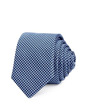 BOSS - Diamond Grid Silk Skinny Necktie
