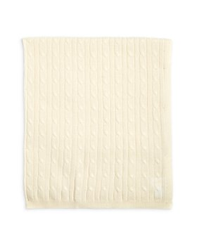Bloomie's - Unisex Cable Knit Cashmere Baby Blanket