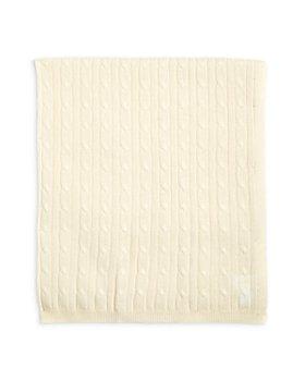 Sofia Cashmere - Unisex Cable Knit Cashmere Baby Blanket