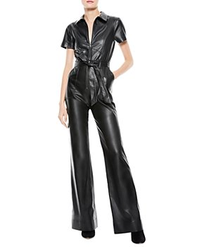Alice and Olivia - Gorgeous Faux Leather Jumpsuit