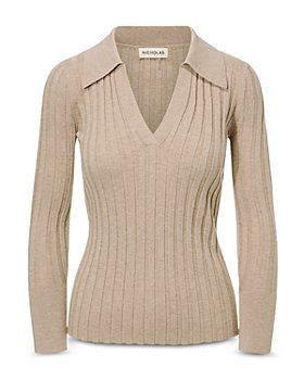 Nicholas - Ivanna Ribbed V-Neck Sweater