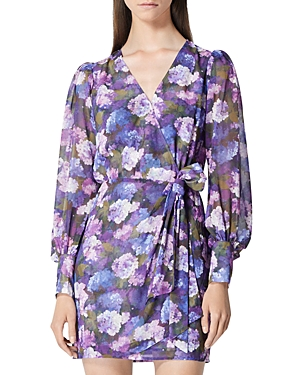 The Kooples FLORAL PRINT WRAP DRESS