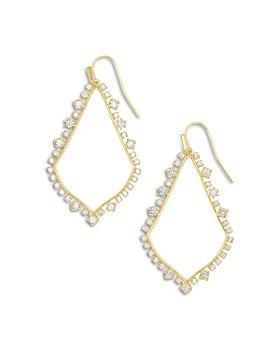Kendra Scott - Sophee Cubic Zirconia Open Frame Drop Earrings