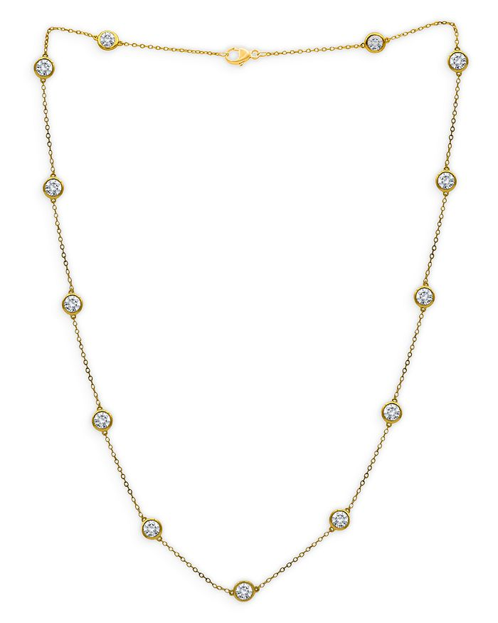 Bloomingdale's - Diamond Bezel Station Necklace in 14K Yellow Gold, 4.0 ct. t.w. - 100% Exclusive