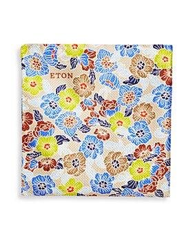 Eton - Men's Retro Floral Silk Pocket Square