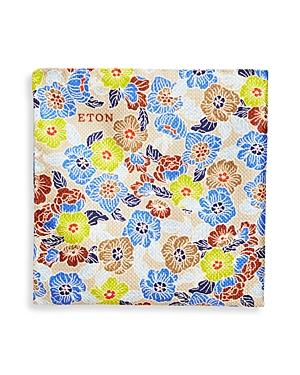 Eton Men\\\'s Retro Floral Silk Pocket Square