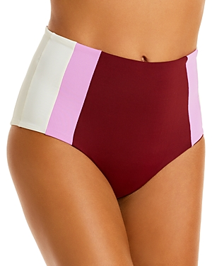 L*Space Portia Colorblocked High-Waist Bikini Bottom