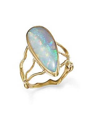 18K Yellow Gold Opal Branch Statement Ring