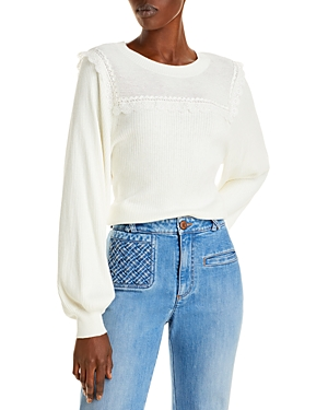 See by Chloe Lace Trimmed Sweater
