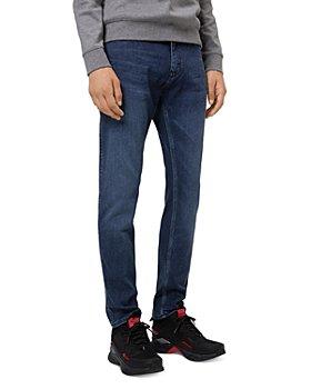 HUGO - 708 Comfort Stretch Slim Fit Jeans in Medium Blue