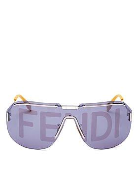 Fendi - Unisex Logo Print Shield Sunglasses, 99mm