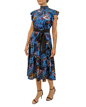 Sam Edelman - Modern Garden Printed Midi Dress