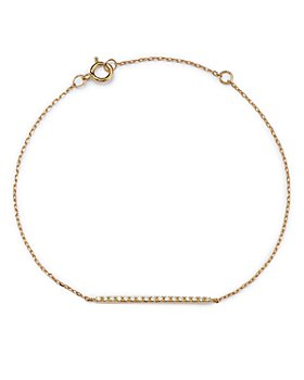 Bloomingdale's - Diamond Accent Bar Bracelet in 14K Yellow Gold, 0.06 ct. t.w. - 100% Exclusive