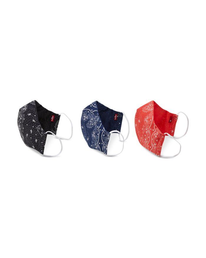 Levi's Reversible Bandana Print Face Masks, Set of 3    Bloomingdale's